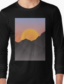 mountains at sunset Long Sleeve T-Shirt