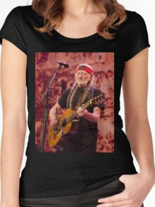 WILLIE NELSON 4 Women's Fitted Scoop T-Shirt