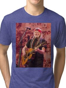 WILLIE NELSON 4 Tri-blend T-Shirt