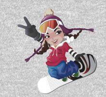 Girl snow boarding One Piece - Long Sleeve