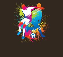 Colorful football players at play Unisex T-Shirt