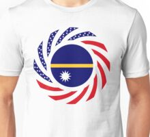 Nauru American Multinational Patriot Flag Series Unisex T-Shirt
