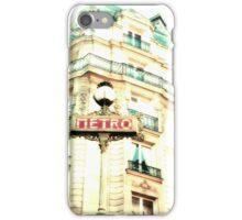 Paris Metro Sign, Mint and Cream iPhone Case/Skin