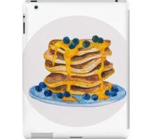 Watercolor Blueberry Pancakes iPad Case/Skin