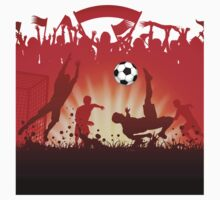 Soccer abstract style backgrounds Kids Tee