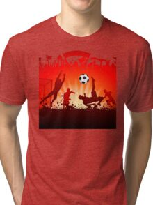 Soccer abstract style backgrounds Tri-blend T-Shirt
