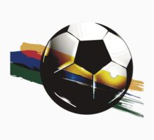 Soccer ball with the Brazilian flag Kids Tee
