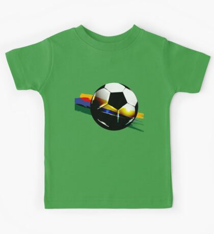 Soccer ball with the Brazilian flag Kids Tee