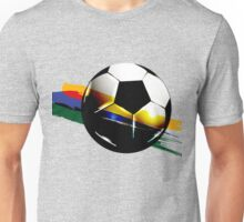 Soccer ball with the Brazilian flag Unisex T-Shirt