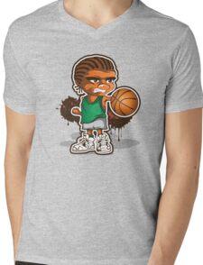 Basketball player cartoon art Mens V-Neck T-Shirt