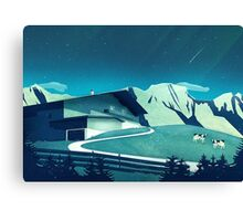 Alpine Hut Canvas Print