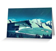 Alpine Hut Greeting Card