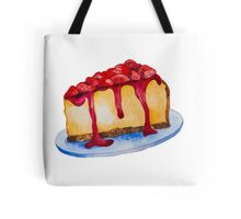 Watercolor New York Cheesecake Tote Bag