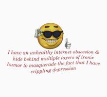 Crippling Derpression meme Apparel Kids Tee