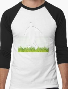 Soccer match in spotlight Men's Baseball ¾ T-Shirt