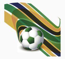 Brazil flag concept stylish wave soccer Baby Tee