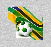 Brazil flag concept stylish wave soccer Unisex T-Shirt