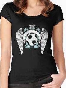 Vintage football graphics Women's Fitted Scoop T-Shirt