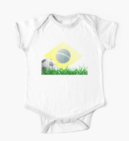 Soccer ball on grass field One Piece - Short Sleeve