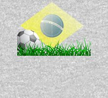Soccer ball on grass field Unisex T-Shirt