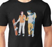 Snowboard boy amp girl illustration Unisex T-Shirt