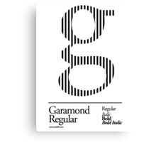 The Letter G Garamond Type Canvas Print