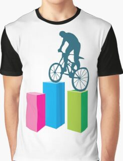 Cycling on blocks art Graphic T-Shirt