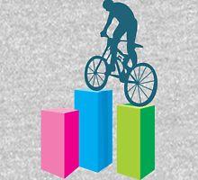 Cycling on blocks art Unisex T-Shirt