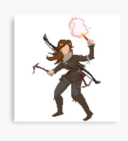 pixel raider Canvas Print