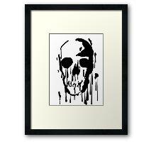 Splatter Skull (black) Framed Print