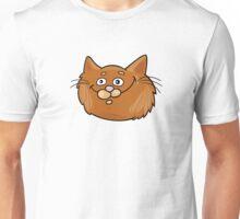 Surprised cat head art Unisex T-Shirt
