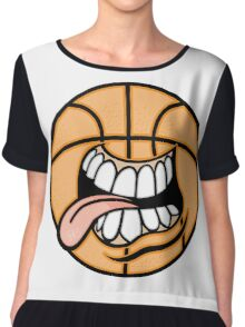 Creative cartoon drawing Chiffon Top