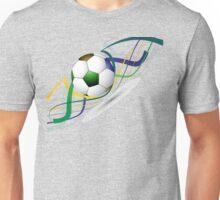 Soccer ball wave art Unisex T-Shirt