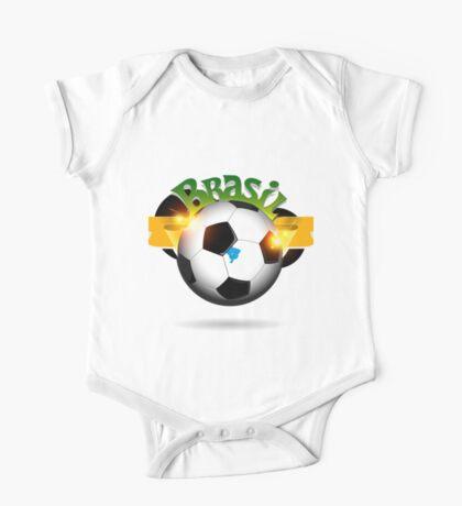 Brazil soccer ball One Piece - Short Sleeve