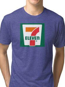 7-11 Logo, Simple. Tri-blend T-Shirt
