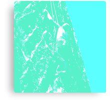Green Mountain Face Canvas Print