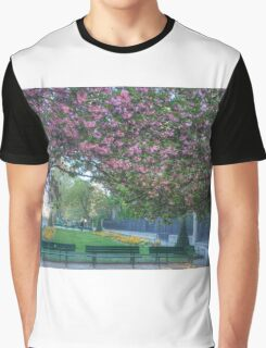 Cherry Blossoms Of Paris Graphic T-Shirt