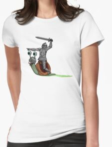 The Knight and the Snail  Womens Fitted T-Shirt