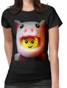 A cute little Piggie Womens Fitted T-Shirt