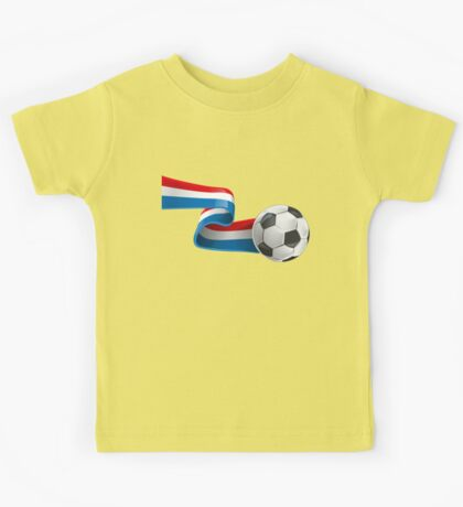 Abstract 3d France flag football ribbon tails Kids Tee