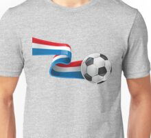 Abstract 3d France flag football ribbon tails Unisex T-Shirt