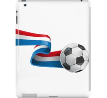 Abstract 3d France flag football ribbon tails iPad Case/Skin