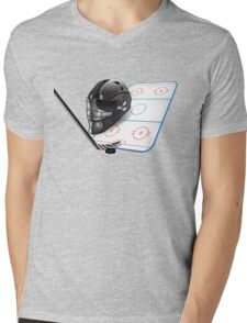 Ice hockey sports equipment Mens V-Neck T-Shirt