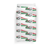 Abstract 3d Italy flag football ribbon tails Duvet Cover