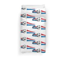 Abstract 3d France flag football ribbon tails Duvet Cover