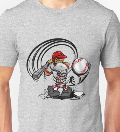 Funny cartoon baseball player Unisex T-Shirt