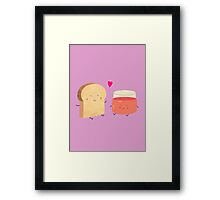Bread loves jam Framed Print