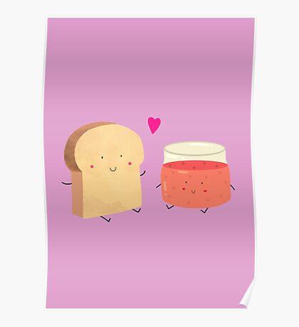 Bread loves jam Poster