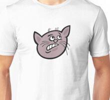 Frustrated cat head art Unisex T-Shirt