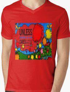 Unless The Lorax Mens V-Neck T-Shirt